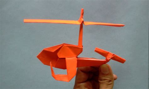 How To Make Helicopter Out Of Paper - origami helicopter of the paper how to make origami