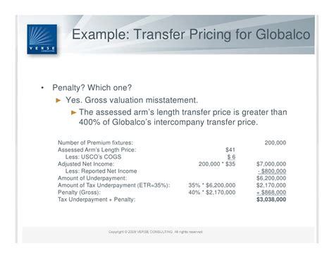 u s transfer pricing penalty regime summary