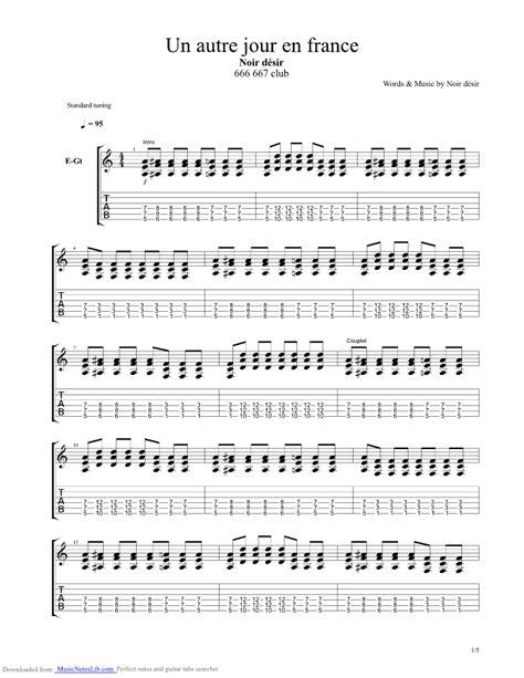 un autre jour en guitar pro tab by noir desir