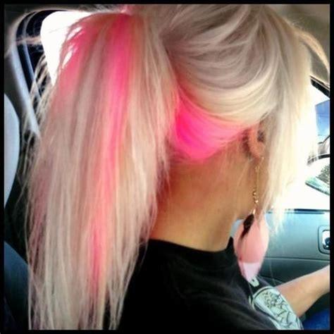 putting black low lights in bleach blond hair 1000 ideas about pink peekaboo hair on pinterest