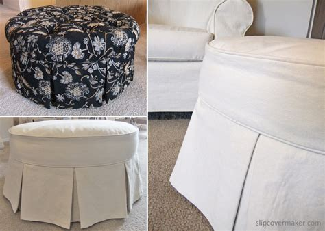 ottoman covers ottoman slipcover from tufted to tailored the slipcover