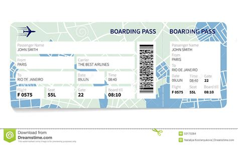 boarding pass boarding pass template download gallery templates design