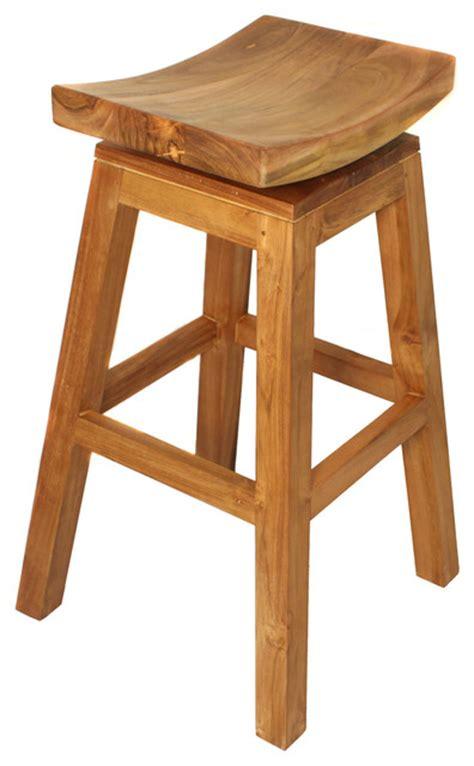 Teak Stools Outdoor by Designs Solid Teak Wood Swivel Bar Stool Teak Brown Outdoor Bar Stools And
