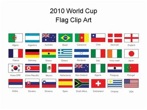 World Cup flags PowerPoint template   Sport and Leisure
