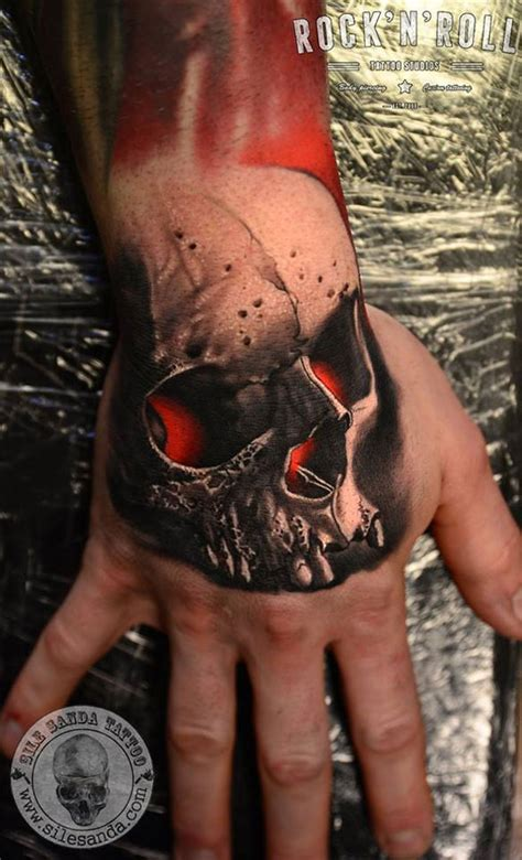 red skull tattoo glowing skull best design ideas