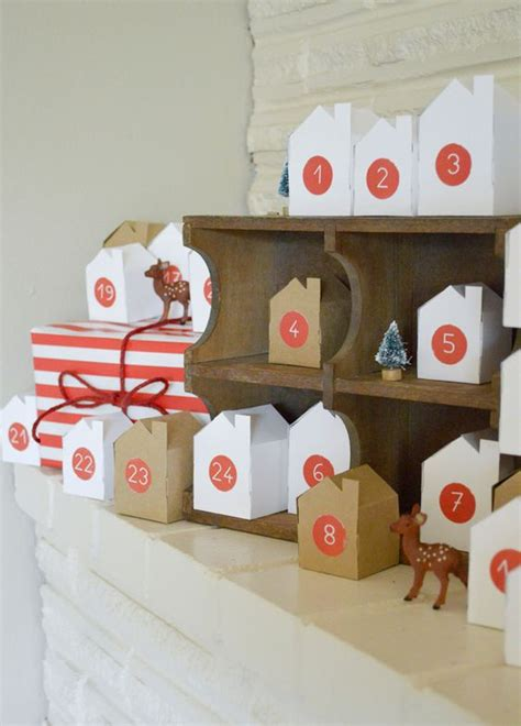 printable advent calendar village christmas villages advent calendar and little boxes on