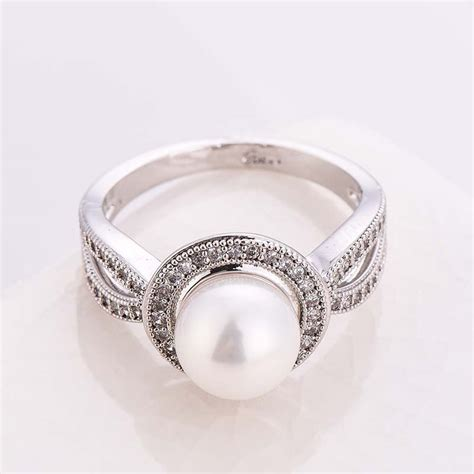 01e44erbest Seller Ring Pearl Simple Silver jewelry 925 silver white pearl white topaz wedding bridal size6 10 ebay