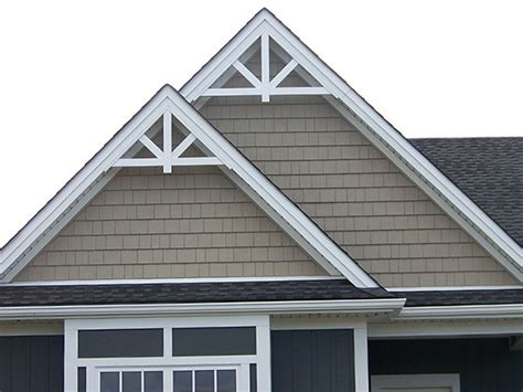 exterior decorative trim for homes gable accent fypon gpf66x33 12 12 roof pitch 153 00