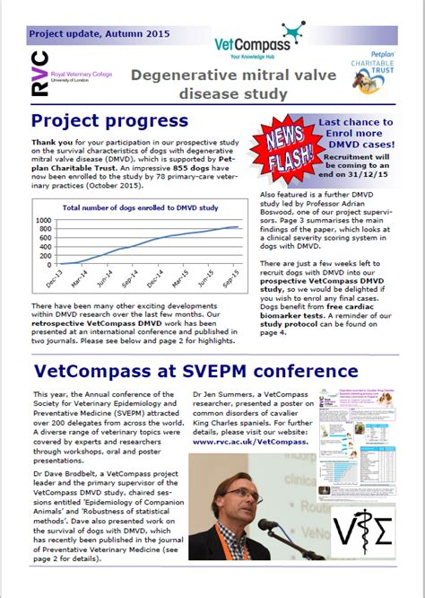 Dmvd Study Newsletter And Last Chance To Enrol Cases News Vetcompass Royal Veterinary Clinical Trial Newsletter Template