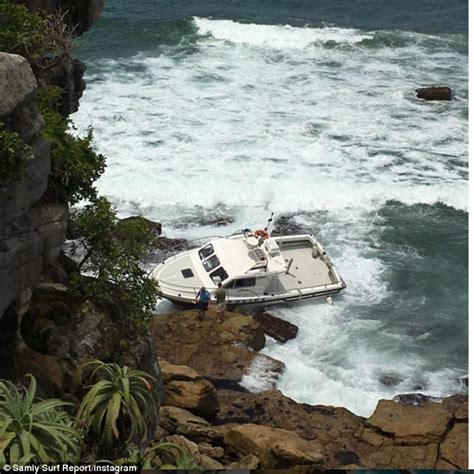 rock the boat queenscliff man plunges his car of sydney cliff and into the sea in