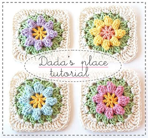 flower pattern granny square gorgeous free granny square crochet patterns the cottage