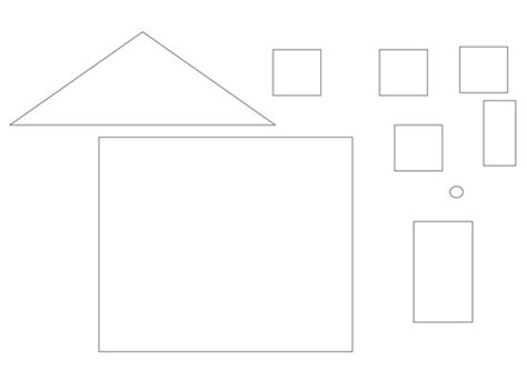 Printable Shapes To Make A House   make shape pictures using shapes by trick2009 teaching
