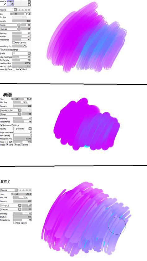 paint tool sai brushes free sai brush settings 1 by amikov on deviantart