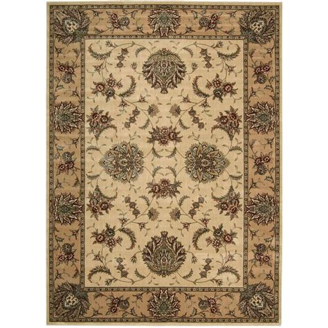 Area Rugs Overstock Nourison Overstock Cambridge Ivory Gold 3 Ft 6 In X 5 Ft 6 In Area Rug 239884 The Home Depot