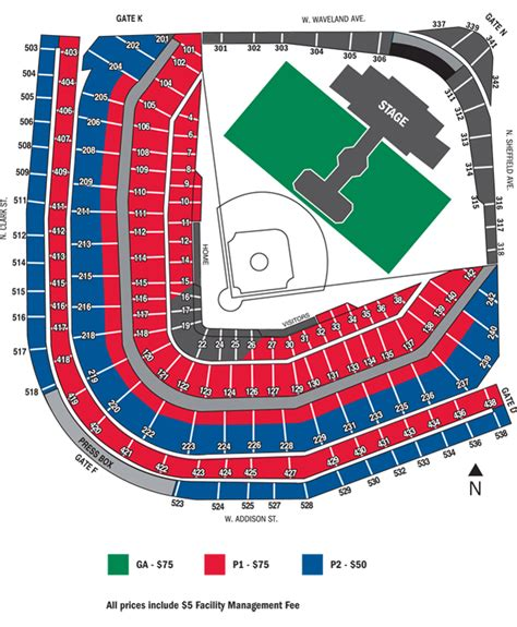 wrigley field seating wrigley field seating chart concert discount theatre
