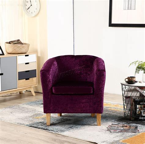purple velvet sessel foxhunter crush velvet fabric tub chair armchair lounge