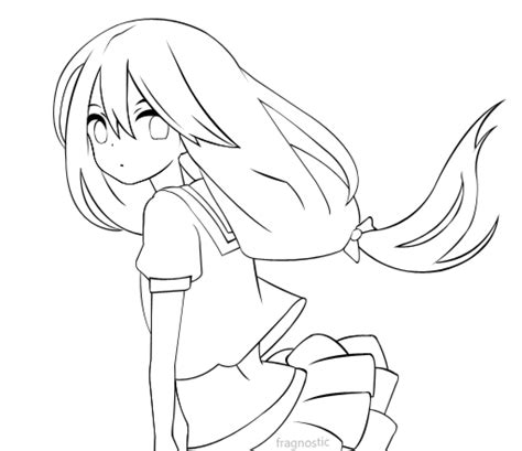 pictures girl coloring schoolgirl anime school girl coloring page www pixshark com