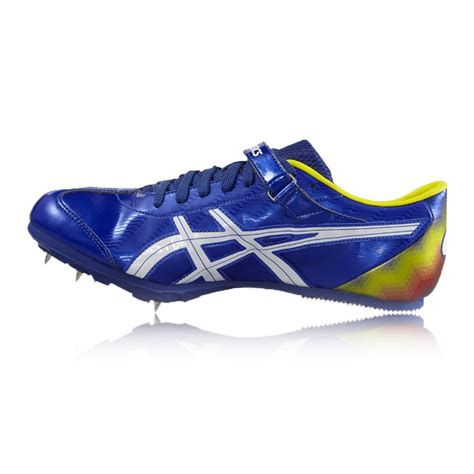 spikes athletic shoes asics jump pro unisex blue running sports shoes