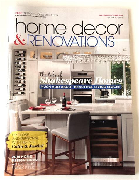 home design magazine vancouver home decor and renovations magazine 28 images