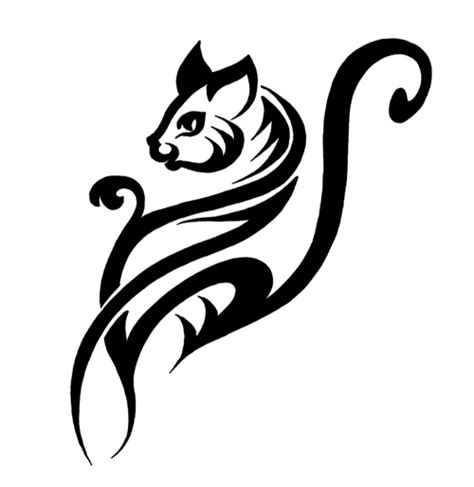 tattoo cat tribal 10 awesome tribal cat tattoos only tribal