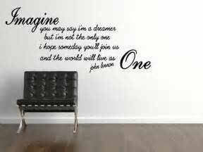 john lennon imagine wall sticker quote family wall quotes quotesgram