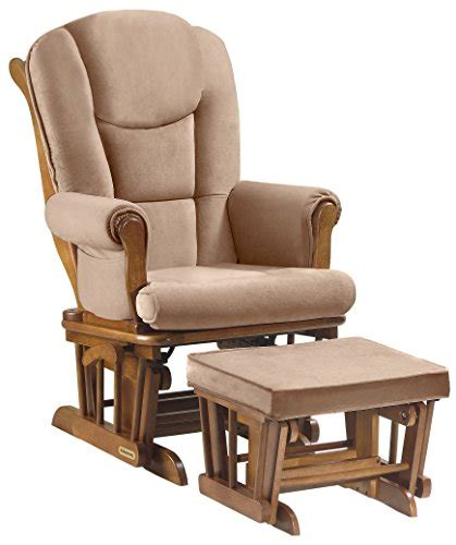 chair ottoman combo shermag combo glider chair and ottoman chestnut khaki