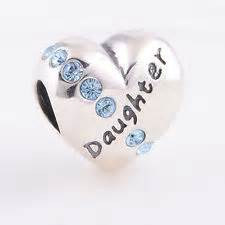 Pandora 925 silver bangle bracelet with mother daughter sparkle charms
