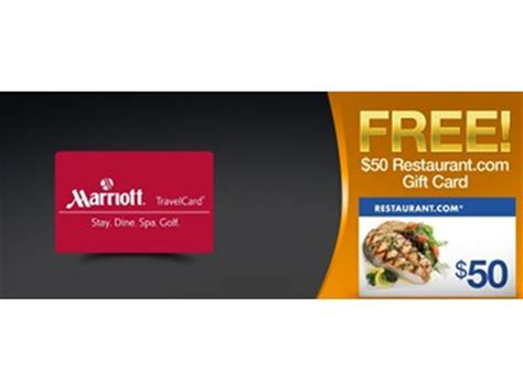 Marriot Gift Cards - 25 marriott travel gift card for only 20 70 plus free 50 restaurant com gift card