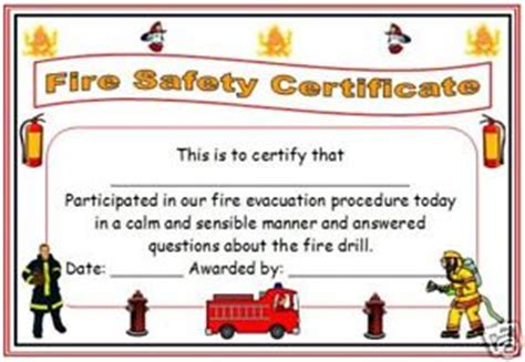 extinguisher certificate template childminder childminding evacuation certificate x6 ebay