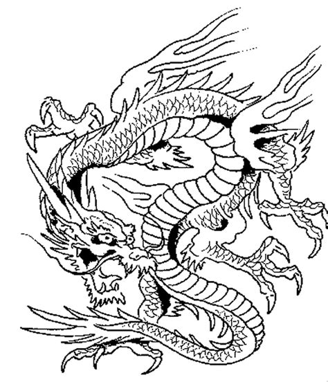coloring pages of chinese dragons dragon coloring pages printable