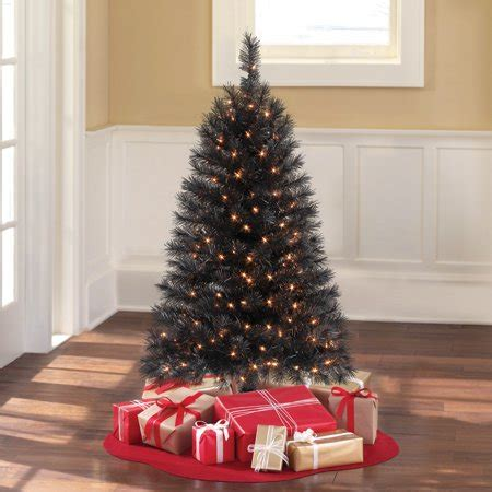 walmart 65 artifical xmas trees time pre lit 4 indiana spruce black artificial tree clear lights walmart