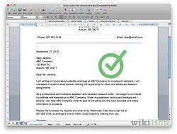 wikihow cover letter write a cover letter wikihow cover letters