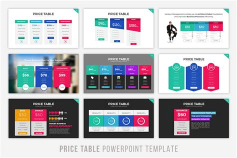 product layout exle ppt price table powerpoint template by brandearth