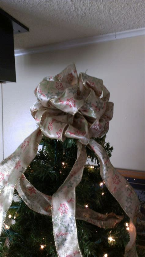 christmas tree topper bow tuorial christmas trees