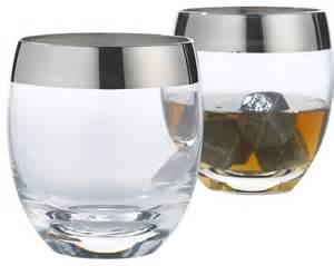Contemporary Barware Wine Enthusiast Avenue Whiskey Glasses