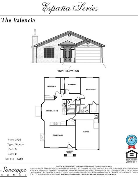 saratoga homes floor plans valencia saratoga homes el paso