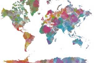 Watercolor World Map by Pin Watercolor World Map On Pinterest