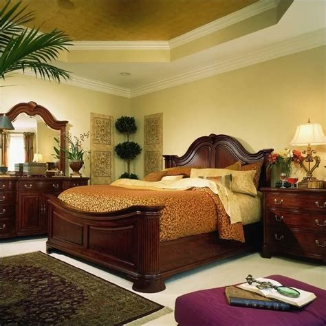 american drew cherry grove mansion wood panel bed 5