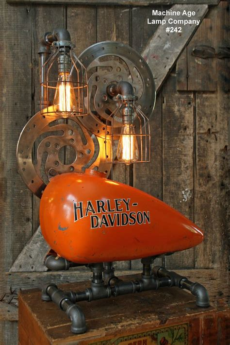 Home Decor Minneapolis steampunk industrial lamp vintage harley davidson