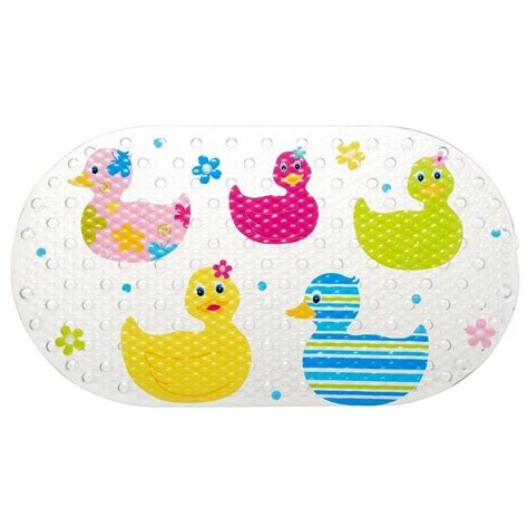 kids bathtub mats quackers duck design kids childrens shower curtain or