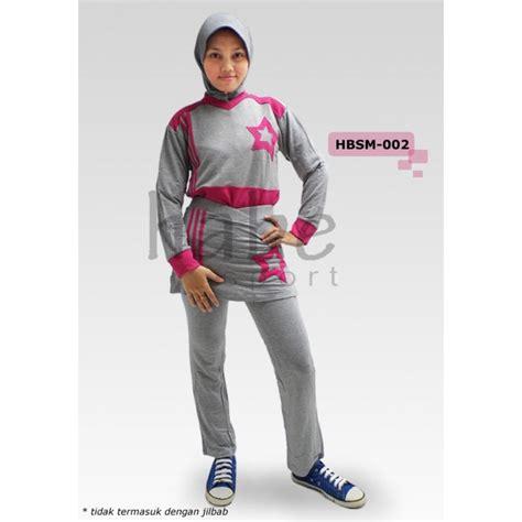 Baju Olahraga Dewasa Muslimah baju senam muslimah hbsm 002 3 warna distributor dan