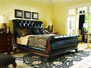 furniture gt bedroom furniture gt sleigh gt queen leather sleigh