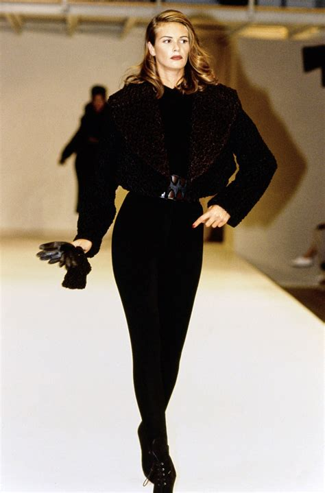 Azzedine Alaia The Best Of The 80s The Best Leather Trench Anywhere Without Question Fashiontribes Fashion by Azzedine Ala 239 A Fall 1991 Ready To Wear Collection Photos
