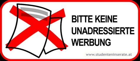 Aufkleber Kaufen Keine Werbung by Aufkleber Bitte Keine Werbung Linz Haushalt
