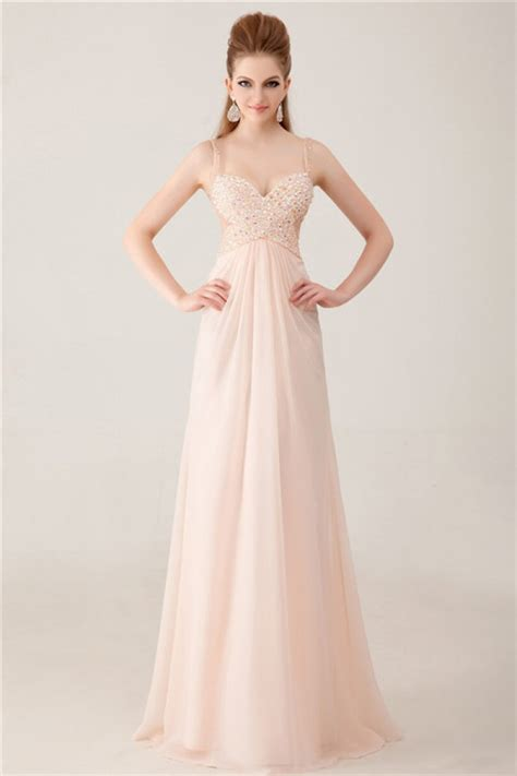 light peach dress elegant sweetheart see through tulle long light peach