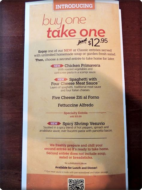olive garden buy one take one 2 wired 2 tired