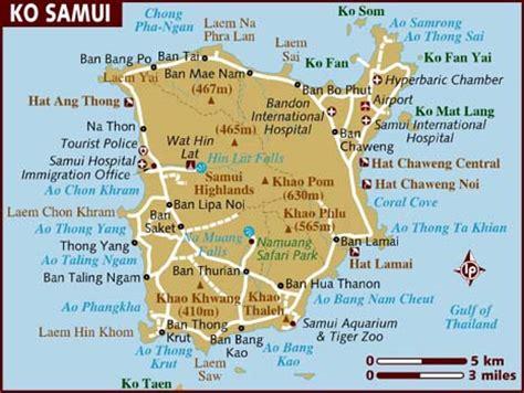 printable map koh samui koh samui thailand cruise port of call