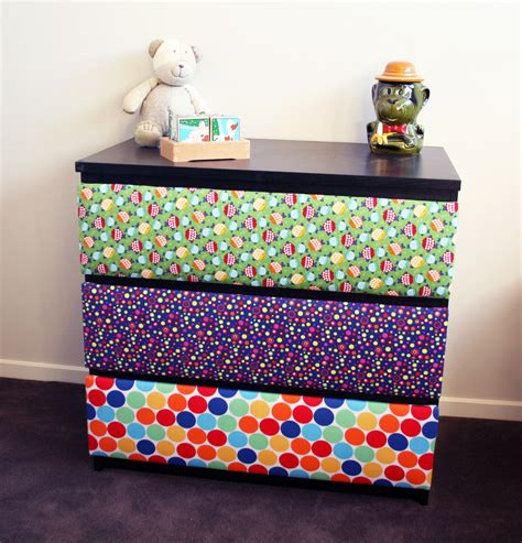 Fabric On Dresser Drawers by 404 Not Found