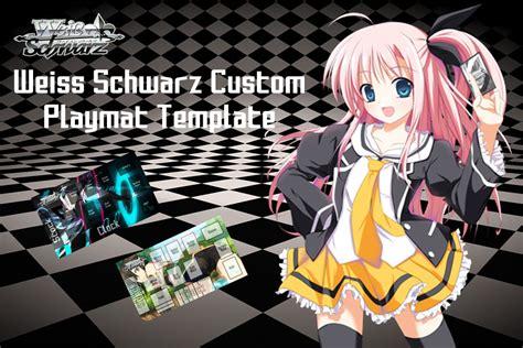 weiss schwarz card template weiss schwarz custom playmat template by oricamakr on
