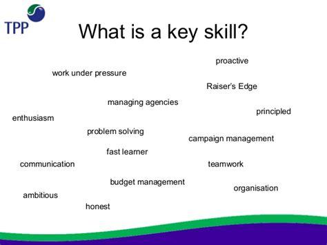 What Does Key Skills Tpp Not For Profit Charity Cv Workshop